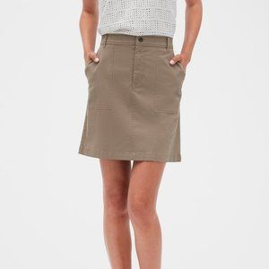 Banana Republic | Utility Patch Khaki A-Line Skirt